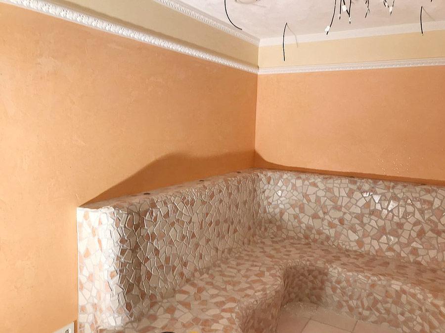 Hauser-Maler-Kalkputz-Stuck-Wandgestaltung-Sauna